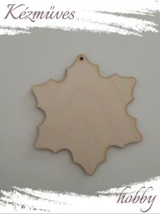 Quilling ajándék - Lézer vágott fa táblák - Kellékek - Natúr hópihe - Lézer vágott fa táblák