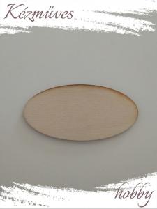 Quilling ajándék - Kellékek - Natúr ovál tábla (kicsi) - Lézer vágott fa táblák