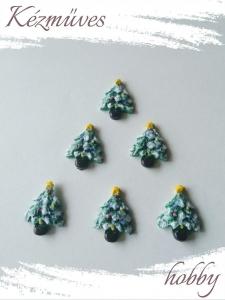 Quilling ajándék - Kellékek - Pici karácsonyfa - Karácsonyi kellékek