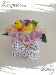 Quilling ajándék - Ünnepek - Pöttyös masnis - Húsvét