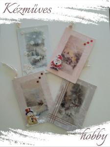 Quilling ajándék - Karácsonyi üdvözlőkártyák - Üdvözlőkártyák 2  - Karácsonyi Üdvözlőkártyák